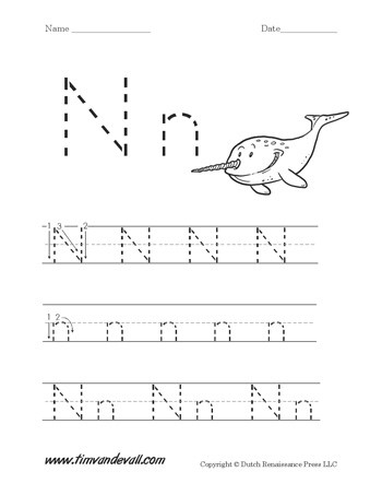 Letter N Worksheet Tims Printables