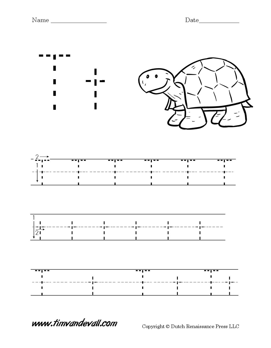 Letter T Worksheet Tims Printables – Letter T Worksheets