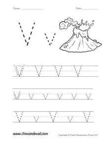 Letter-V-Worksheet-01