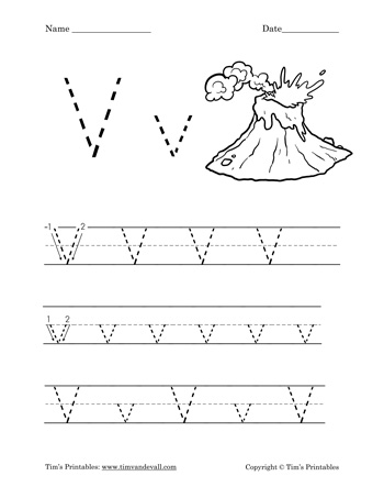 picture about Letter V Printable known as Letter V Worksheet - Tims Printables