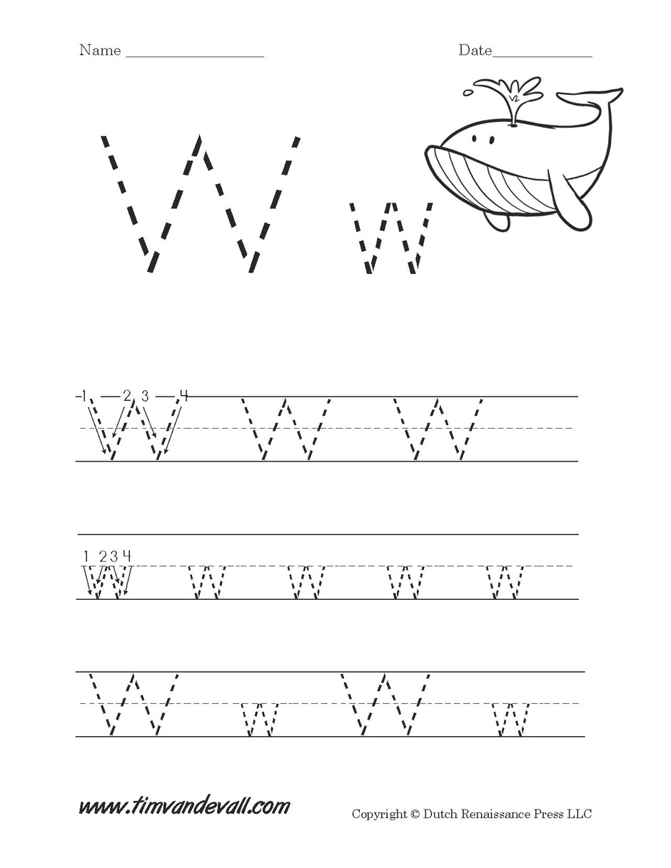 Letter W Worksheet Tims Printables – Letter W Worksheet