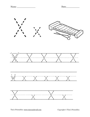 image about Letter X Printable identified as Letter X Worksheet - Tims Printables