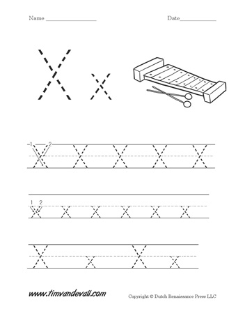 Zany image throughout letter x printable
