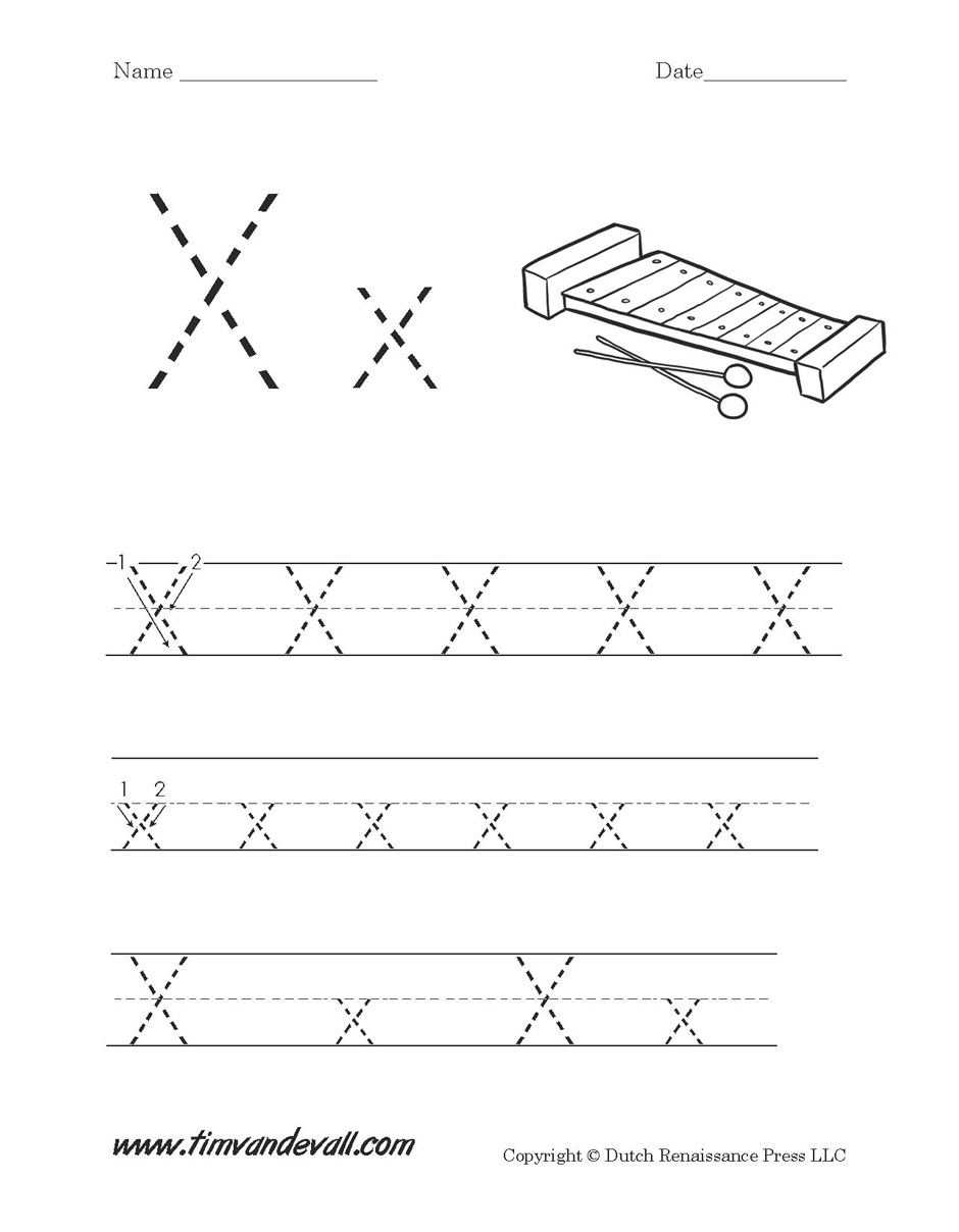 Letter X Worksheet - Tim van de Vall