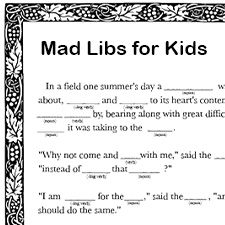 picture regarding Printable Funny Mad Libs called Absolutely free Printable Ridiculous Libs for Youngsters