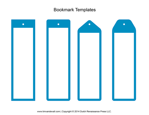 Tim van de vall comics printables for kids for Create your own bookmark template
