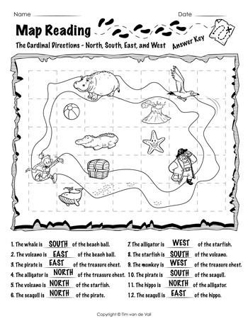 Map-Reading-Worksheet-01-Answer-Key-350 - Tim's Printables