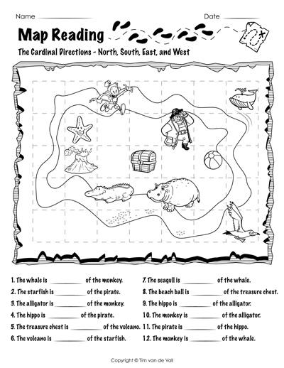 map reading worksheet