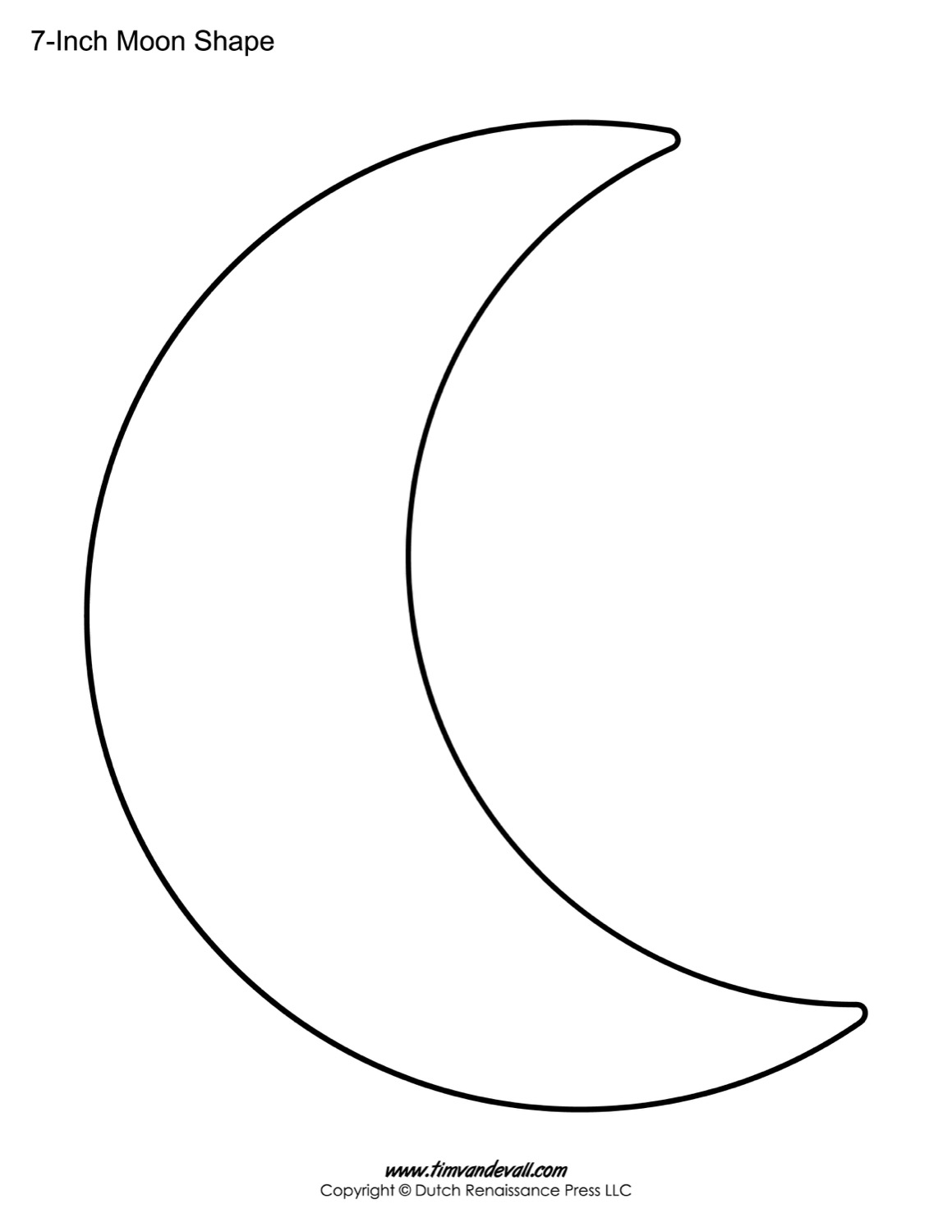 Blank Moon Templates | Printable Moon Shapes