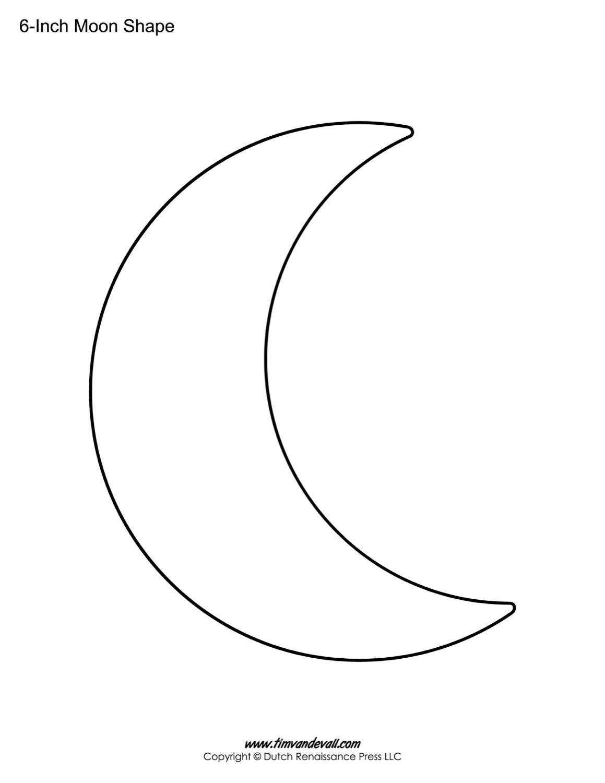 Blank Moon Templates | Printable Moon Shapes