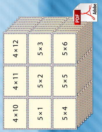 Geeky image in times table flash cards printable