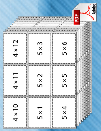Multiplication Flash Cards Tim S Printables