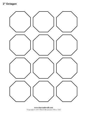 Octagon Template | Octagon Template Blank 350 Tim S Printables