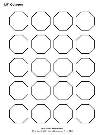 octagon template printable 350 tim s printables