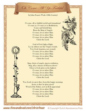 Oh come all ye faithful lyrics tims printables oh come all ye faithful lyrics stopboris Gallery