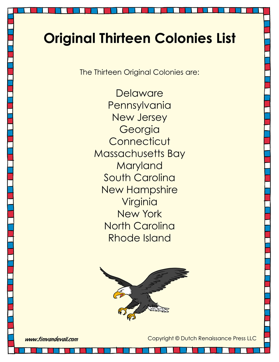 worksheet 13 Colonies Map Worksheet original thirteen colonies list printable tims printables printable