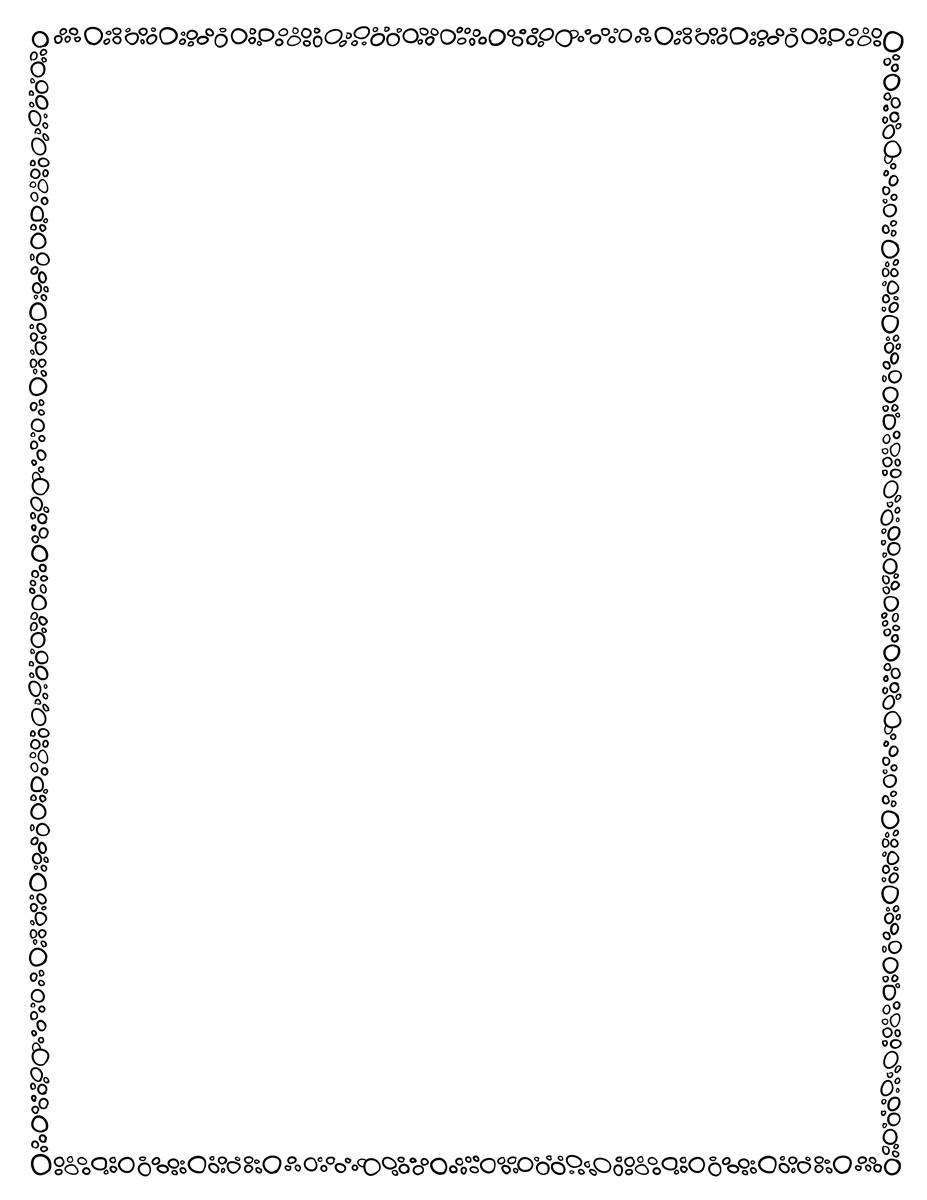 Page Border Template Circles Bw Tim S Printables