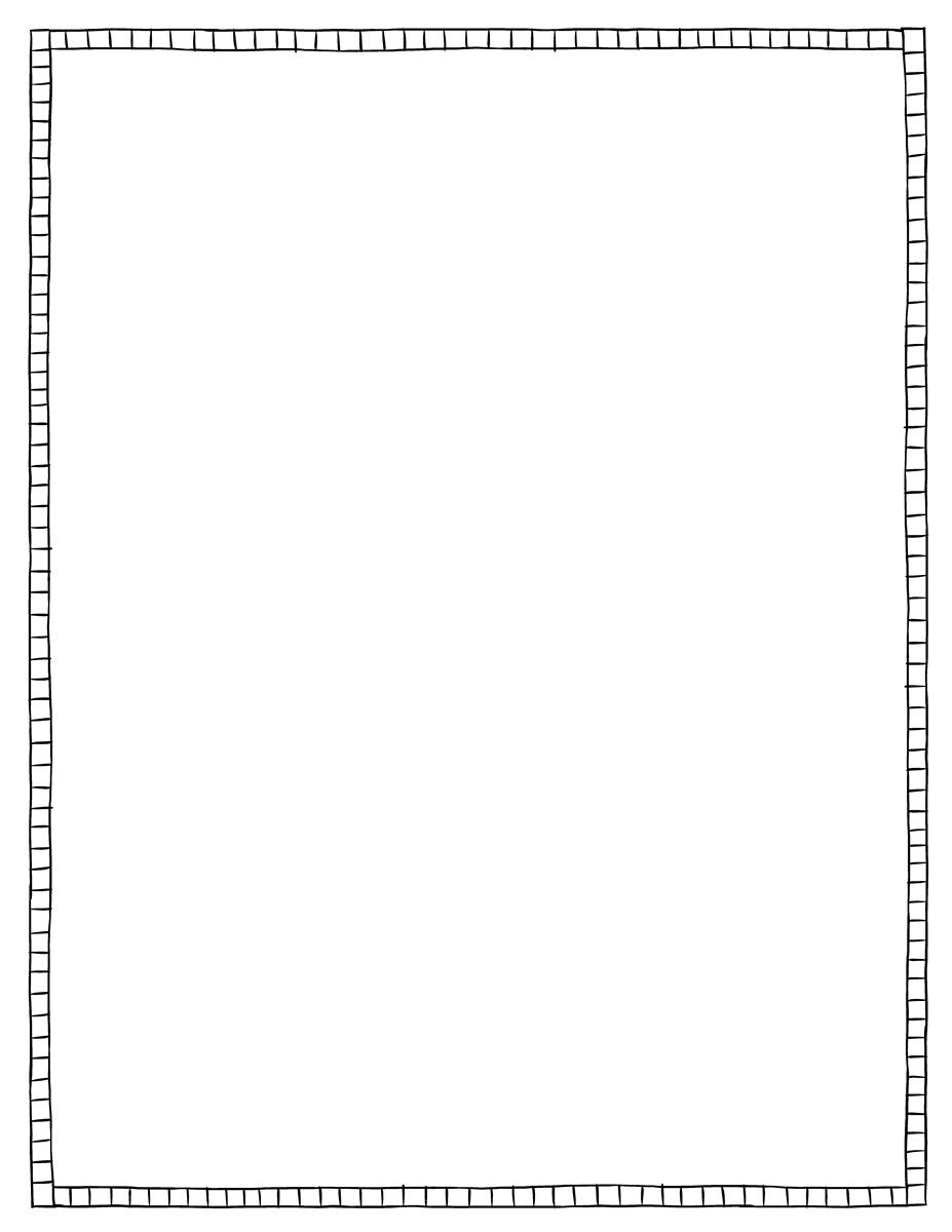 Page Border - Squares - Black & White - Tim's Printables