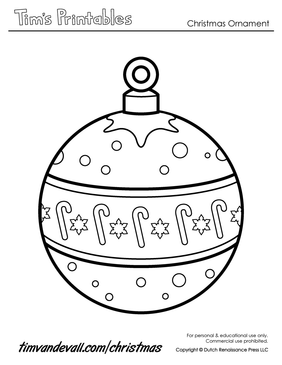 ornament printable coloring pages - photo#43