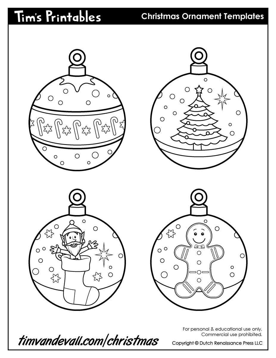 It's just a graphic of Exceptional Christmas Ornaments Printable