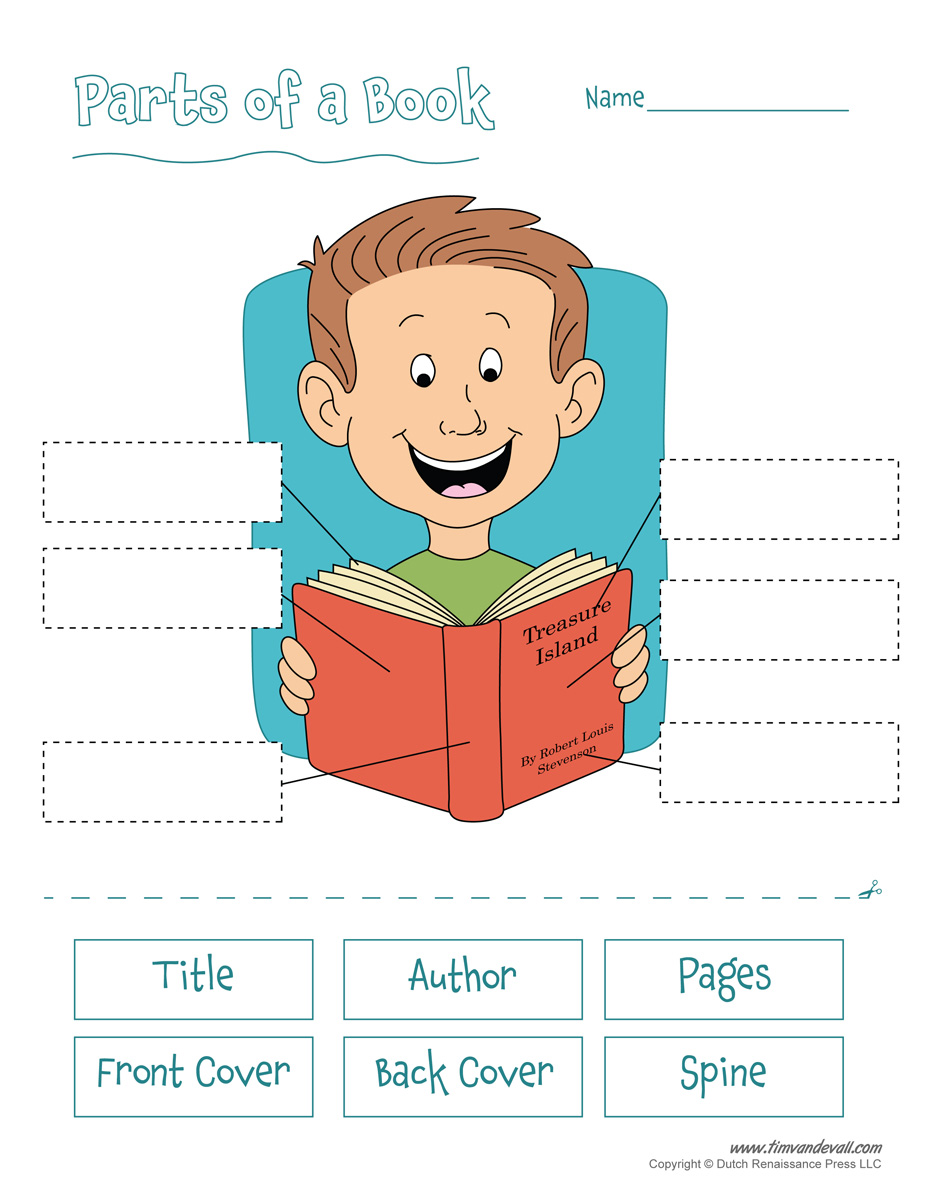 Free Printable Parts of a Book Worksheet for Kids – Parts of a Book Worksheet