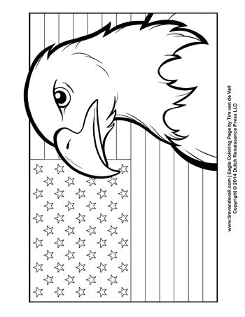 Patriotic Coloring Page - Tim\'s Printables