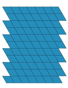blue rhombus shapes