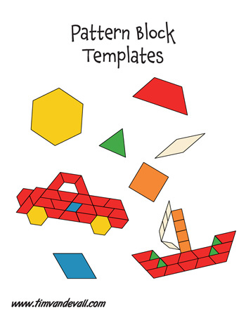 Punchy image throughout printable pattern block templates