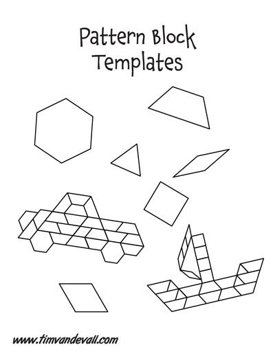 Free Paper Pattern Block Templates | Printable Pattern Block ...