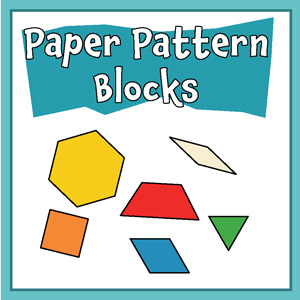 graphic relating to Printable Pattern Blocks titled Cost-free Paper Routine Block Templates Printable Behavior Block