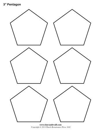 pentagon outline 350 tim s printables
