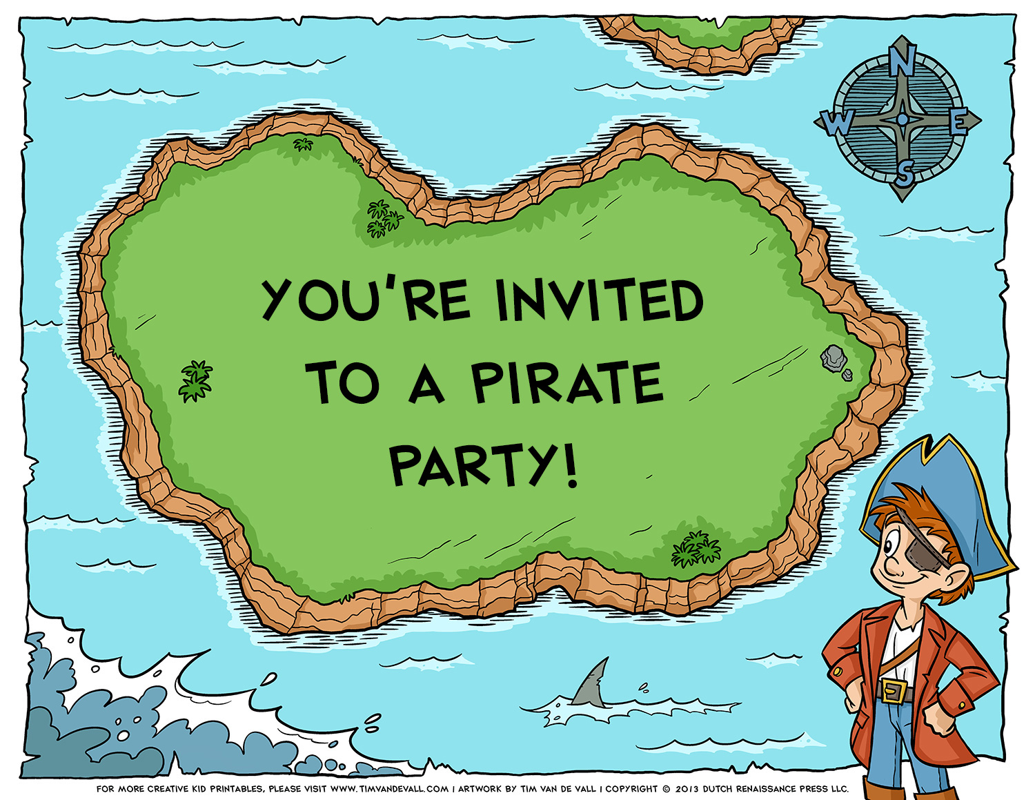Free pirate treasure maps and party favors for a pirate birthday party pirate birthday invitation filmwisefo