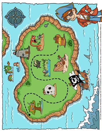 Pirate Treasure Map Tim S Printables