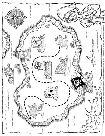 pirate treasure map tim van de vall