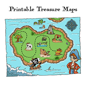 image regarding Printable Treasure Maps identify No cost Pirate Treasure Maps and Celebration Favors for a Pirate