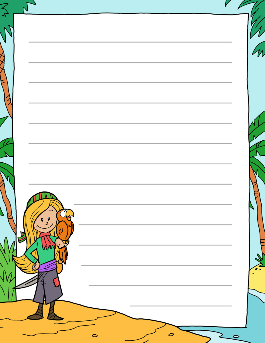 Pirate Writing Paper | Pirate Paper Templates for Kids