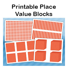 graphic about Place Value Blocks Printable called Printable Spot Price Blocks No cost Math PDFs for College students