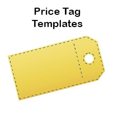 Playful image for printable price tags