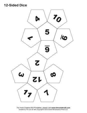Dice archives tims printables 12 sided dice maxwellsz