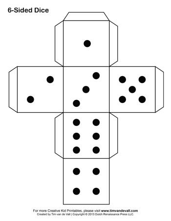 photo regarding Printable Dice identified as Cube Template - Tims Printables