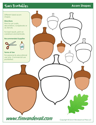 graphic about Acorn Template Printable identify Acorn Template Coloring Site. Acorn Template. Totally free Acorn
