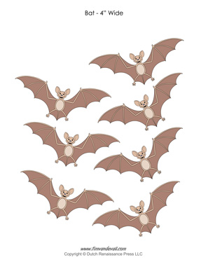 picture relating to Bat Stencil Printable identify Halloween Bat Templates in direction of Lower Out Paper Bat Decorations - PDF