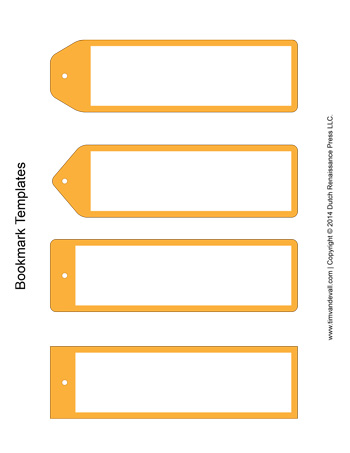 graphic relating to Printable Bookmark Template identify Bookmark Templates - Yellow - Tims Printables