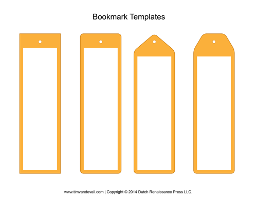 Blank bookmark templates make your own bookmarks for Bookmark template printable