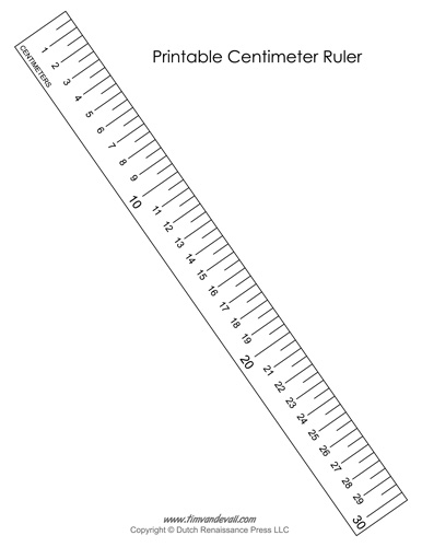 image about Printable Cm Ruler titled Printable Centimeter Ruler - Tims Printables