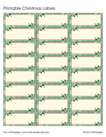 photograph relating to Printable Christmas Labels named Printable Xmas Labels - Inexperienced - Tims Printables