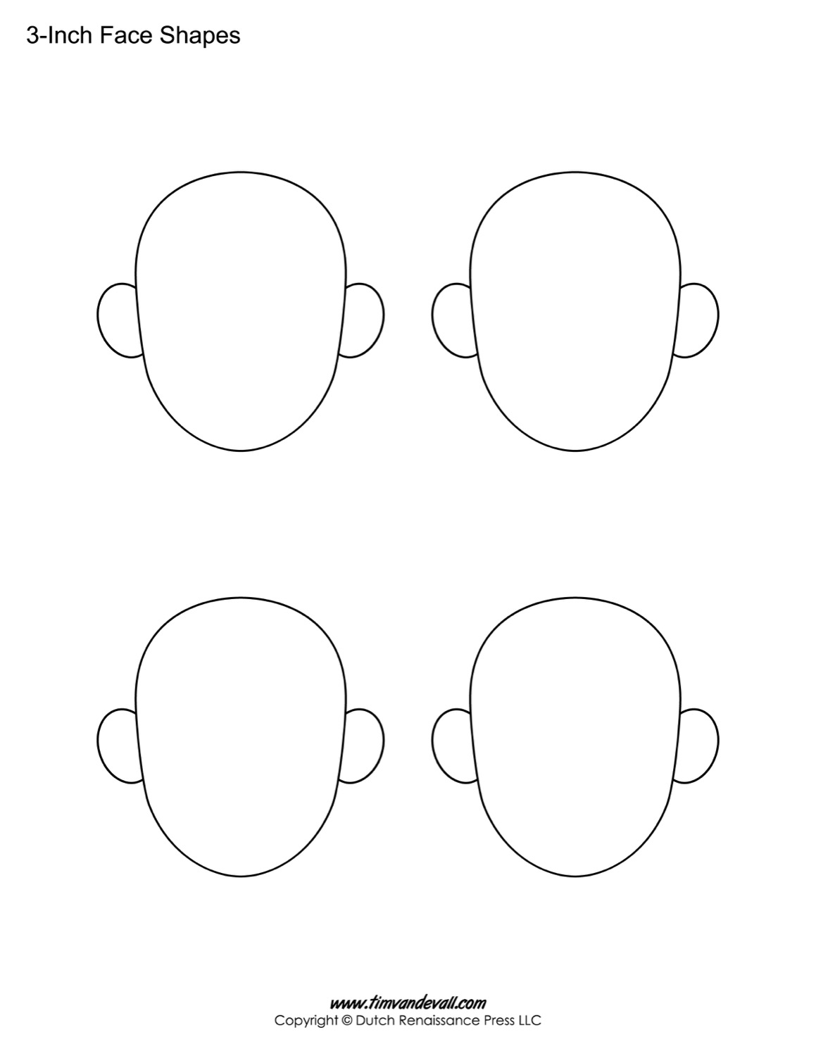 It's just a graphic of Gorgeous Blank Face Printable