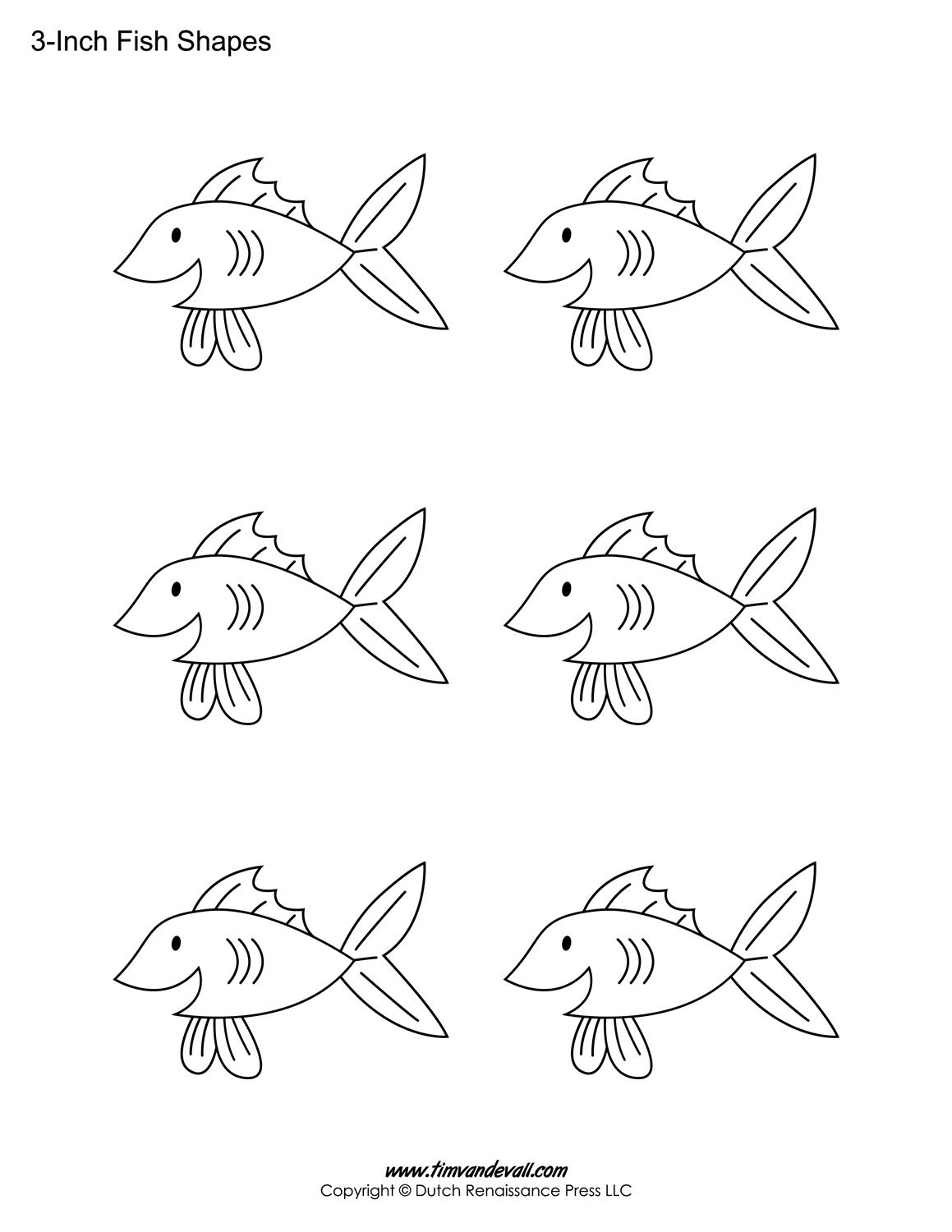 photograph about Fish Cutouts Printable known as Printable Fish Templates for Youngsters Preschool Fish Designs