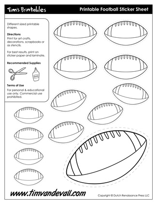 football templates printable