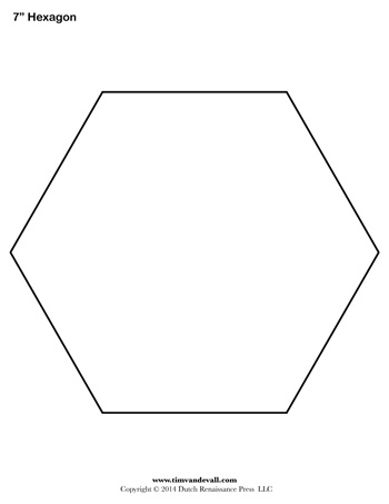 Hexagon Template - 7 inch - Tim's Printables